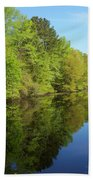 Dismal Swamp Canal In Spring Beach Towel