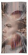 Distracted By Thoughts Beach Towel