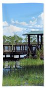 Dock On The River Beach Towel