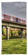 Docklands Light Railway Train  Beach Sheet