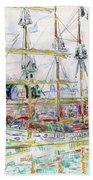Docks At Saint Malo - Digital Remastered Edition Beach Sheet