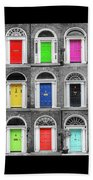 Doors Of Dublin - Vertical Beach Towel