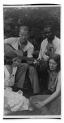 Doris Ulmann   1882-1934  Four Musicians Including A Man Playing A Guitar, A Man Playing A Violin Beach Towel