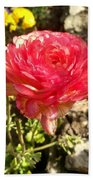 Double Coloured Rose Beach Towel