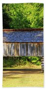 Double Crib Barn In Cades Cove In Smoky Mountains National Park Beach Towel