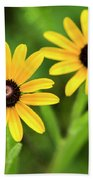 Double Daisies Beach Towel