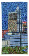 Downtown Raleigh - City At Night Beach Towel