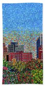Downtown Raleigh - October Sunset Beach Towel
