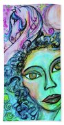 Dreams Are Free Beach Towel by Mimulux patricia No