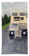 Dublin Bus Painting Beach Towel