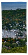 Early Fall Colors Of Camden Maine Beach Towel by Jeff Folger
