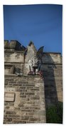 Eastern State And The Gargoyle Beach Towel by Lora J Wilson