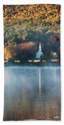 Eaton Nh Little White Church With Fall Foliage Beach Towel by Jeff Folger