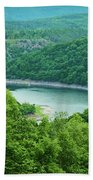Edersee Lake Surrounded With Forest Beach Towel