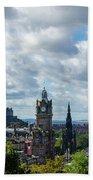 Edinburgh Castle From Calton Hill Beach Towel