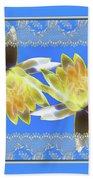 Electric Yellow Water Lilies Beach Towel