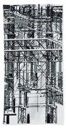 Electrical Substation Beach Towel by Juan Contreras