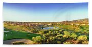Elevated View Of Golf Course, Sun City Beach Towel