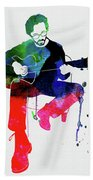 Eric Clapton Watercolor Beach Towel