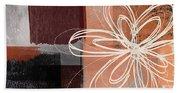 Espresso Flower 1-  Art By Linda Woods Beach Sheet
