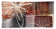Espresso Flower 2- Art By Linda Woods Beach Towel