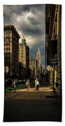 Evening On Fifth Avenue Beach Towel by Chris Lord