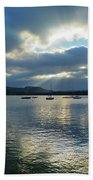 Evening On Windermere In Lake District National Park Beach Sheet