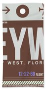Eyw Key West Luggage Tag II Beach Towel