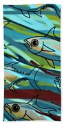 F Is For Fish Beach Towel