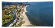 Fairfield Beach Connecticut Aerial Beach Towel