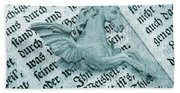 Fairytale Theme With Pegasus Horse Beach Sheet