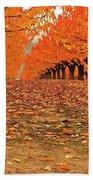 Fall Cherry Trees Beach Towel