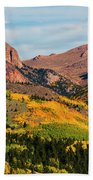 Fall Colors On The North Face Of Pikes Peak Beach Towel