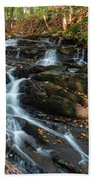 Falling Waters In October Beach Towel