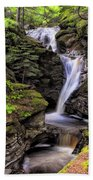 Falls Of Acharn - Perthshire Scotland - Waterfall Beach Towel by Jason Politte