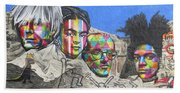 Famous Contemporary Artists Mural Beach Towel