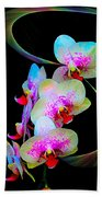 Fantasy Orchids In Full Color Beach Sheet