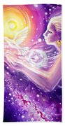 Fantasy Painting About The Flight Of A Dream In The Universe Beach Sheet