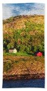 Farm On The Edge Beach Sheet