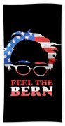 Feel The Bern Patriotic Beach Towel
