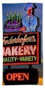 Federhofer's Vintage Neon Beach Towel by Robert FERD Frank