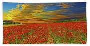 Field Of Flowers Beach Sheet