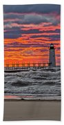First Day Of Fall Sunset Beach Towel