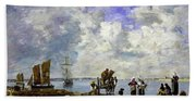 Fishermens Wives At The Seaside - Digital Remastered Edition Beach Towel