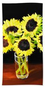 Five Sunflowers Beach Towel