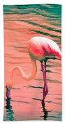 Flamingo Art Beach Towel