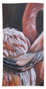 Flamingo Grace Beach Towel