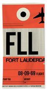Fll Fort Lauderdale Luggage Tag I Beach Sheet
