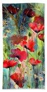 Floral Abracadabra Beach Towel