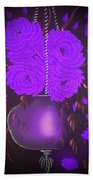 Floral Roses With So Much Passion In Purple  Beach Towel
